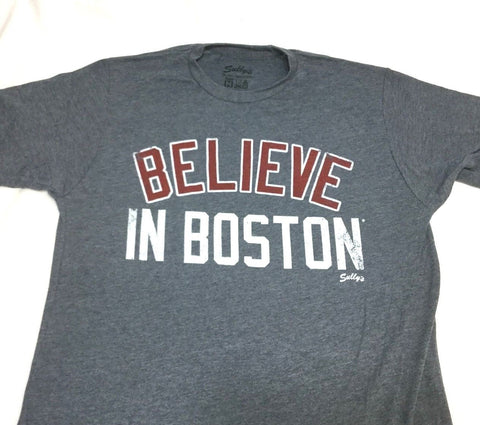 2018 Red Sox Version Blue Boston Believe in Boston T Shirt Size Large FREESHIP