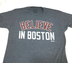 2018 Red Sox Version Blue Boston Believe in Boston T Shirt Size XLarge FREESHIP