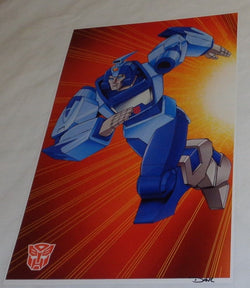 G1 Transformers Autobot Blurr Poster 11x17 Box Art Grid FREESHIPPING