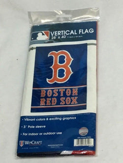 "Boston Red Sox 28"" x 40"" Vertical One Sided House Porch Flag Banner Fenway Park"