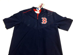 Boston Red Sox Majestic Blue Road Batting Warm Up Jacket Pull Over Size Large