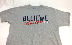 Red Sox Boston Police Bullpen Cop Believe in Boston T Shirt Size Large FREESHIP