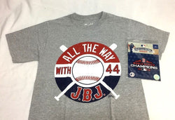 JBJ Jackie Bradley Jr T Shirt Size XLarge Red Sox 2018 World Series Patch Lot