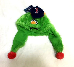 Boston Red Sox Mascot Wally the Green Monster Thematic Knit Plush Hat Cap