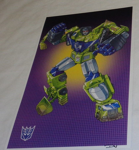 G1 Transformers Constructicons Devastator Poster 11x17 Box Art Grid FREESHIPPING