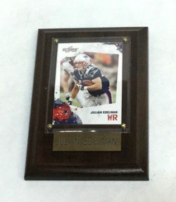 NFL New England Patriots Julian Edelman Wood Player Framed Card 5x7 FREESHP