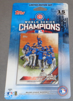 Topps Chicago Cubs 2016 World Series Champions Team Set / Trophy Card FREESHIP