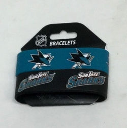 NHL San Jose Sharks 2 Pack Bracelet Wrist Bands Set Rubber PVC Type (2nd) FREESP