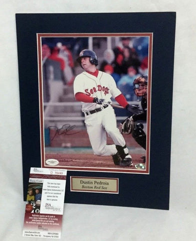 Boston Red Sox Dustin Pedroia Autographed Signed 8x10 Picture JSA Certified