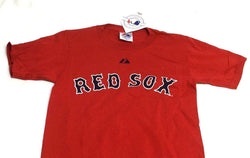 NEW Majestic Boston Red Sox RED Team T Shirt Size Small 8 Youth Kids Childrens