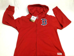 Boston Red Sox Zip Up Hooded Sweatshirt Jacket Stitches Brand Mens Medium FREESP