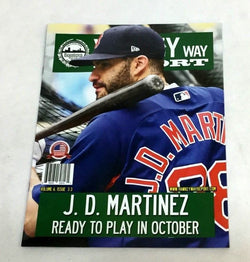 August 2018 Yawkey Way Report Red Sox Program Magazine JD Martinez Cover FREESHP