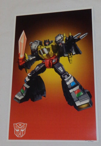 G1 Transformers Autobot Dinobot Grimlock Poster 11x17 Box Art Grid FREESHIPPING