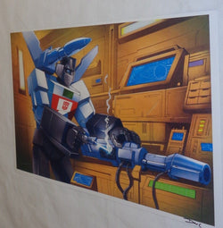 G1 Transformers Autobot Wheeljack in Lab Cybertron Poster 11x17 Box Art Grid