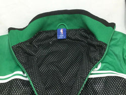 New Official NBA Boston Celtics Green Warm Up Jacket Coat Size Mens Large FREESP