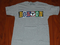 Boston Ransom Note City Red Sox Bruins Celtics Patriots T Shirt Size Medium
