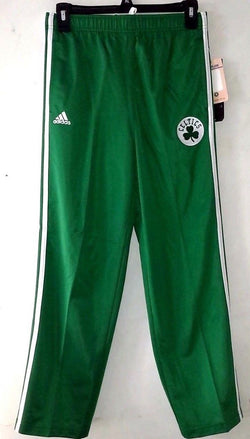 Boston Celtics Adidas Youth Childrens Kids Warm Up Track Pants Size Medium 10/12