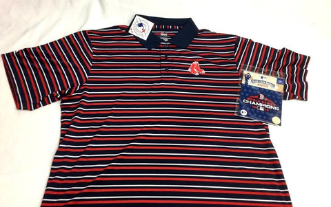 Boston Red Sox Majestic Polo Shirt Mens XXL 2018 World Series Champions Patch