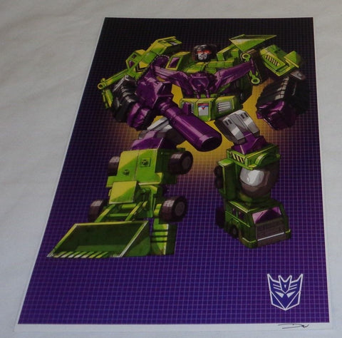 G1 Transformers Constructicons Devastator Version 2 Poster 11x17 Box Art Grid
