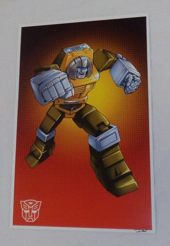 G1 Transformers Autobot Brawn Poster 11x17 Box Art Grid FREESHIPPING