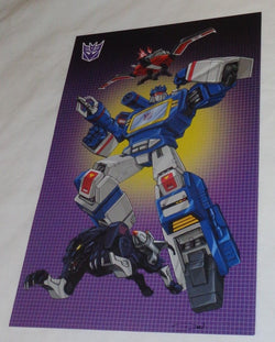 G1 Transformers Decepticon Soundwave Lazerbeak Ravage Poster 11x17 Box Art Grid