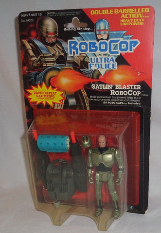 Kenner 1989 Robocop and the Ultra Police Gatlin Blaster Figure MOC Carded FREESP