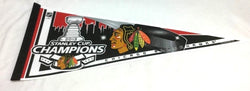 2013 Stanley Cup Champions Chicago Blackhawks Pennant (R) FREESHIP