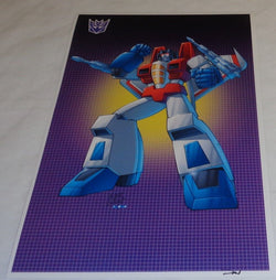 G1 Transformers Decepticon Starscream Version 1 Poster 11x17 Box Art Grid