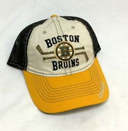 NEW Boston Bruins Reebok Truckers Mesh Hat Cap Snapback Adjustable FREESHP