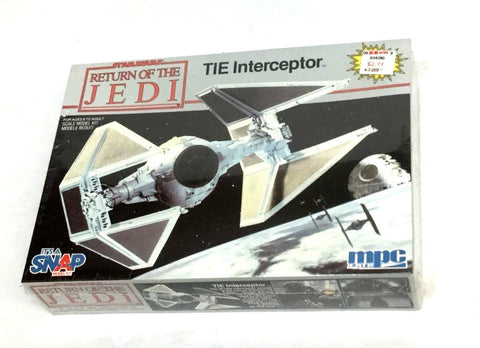 1983 Vintage MPC Ertl Star Wars ROTJ Tie Interceptor Model Kit Boxed Sealed NEW