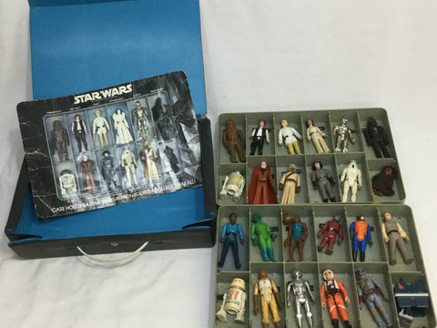 1978 Vintage Star Wars First 21 Figure Complete Set Original 12 Back Luke Leia with Case