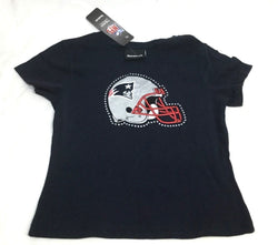 New England Patriots Girls Kids Childrens T Shirt Medium 10/12 with Tags FREESHP