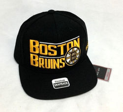 New NHL Boston Bruins Reebok Flatbrim Snapback Adjustable Hat Cap FREESHIP