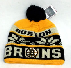 NHL Reebok Boston Bruins Winter Knit Cap Hat Beanie Pom Pom Style FREESHIP