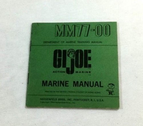 1964 Vintage Early Issue GI Joe Action Marine Marine Manual Booklet MM77-00 Book