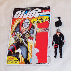 1983 Hasbro GI Joe ARAH Cobra Destro Figure 20 Back Cardback File Card Complete