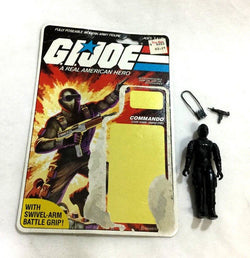 1983 Hasbro GI Joe ARAH Snake Eyes Figure 32 Back Cardback File Card Complete