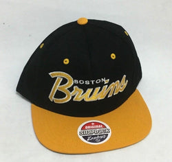 1990s Retro Boston Bruins Zephyr Flatbrim Snapback Adjustable Hat Cap FREESHIP