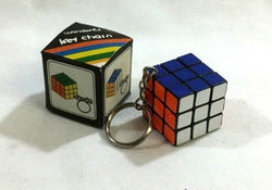 1980 Vintage Mini Rubik's Cube Keychain Puzzle Toy Boxed New Mint FREESHIPPING