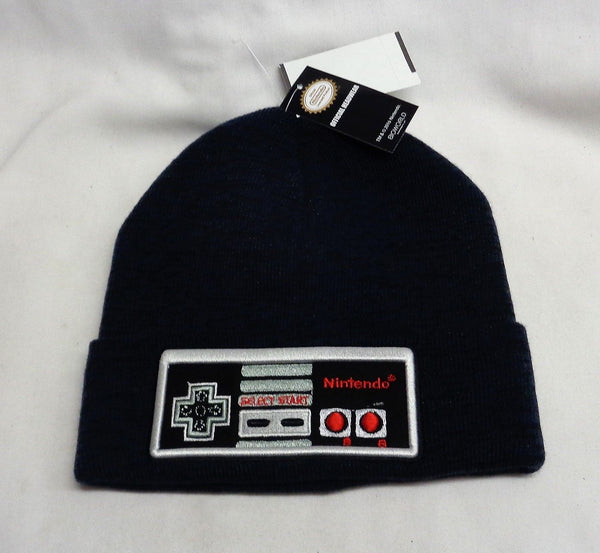 1985 Vintage Retro Nintendo NES Controller Cuffed Winter Knit Hat Adult Size