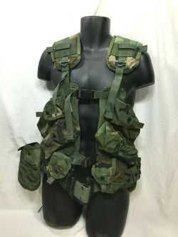 Gen 1 Load Bearing Assault Vest LBV / LBE Woodland Camo Real Marines Army Issue