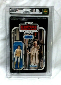 Star Wars ESB Empire Strikes Back Princess Leia Hoth Figure 41 Back AFA 70