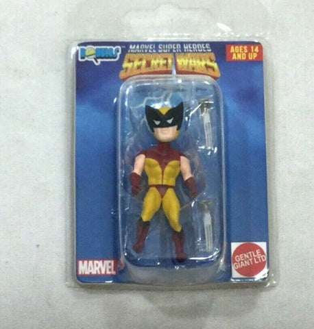 Gentle Giant Marvel Secret Wars Micro Bobbles Wave 1 Wolverine Figure FREESHIP