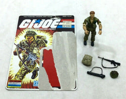 1985 Hasbro GI Joe ARAH Footloose Figure Cardback Complete 36 Back Filecard