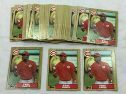 1987 Topps Baseball #412 Cincinnati Reds Eric Davis Card 50 Piece Lot FREESHIP