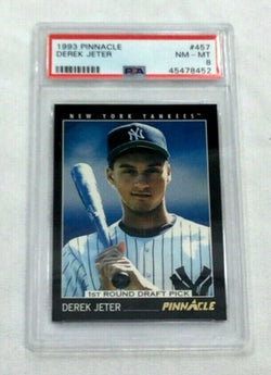 1993 Pinnacle #457 New York Yankees Derek Jeter PSA 8 RC Rookie FREESHIP