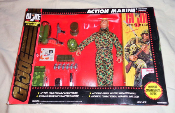 1964 1994 Hasbro GI Joe Commemorative Collection Action Marine Boxed Sealed Mint