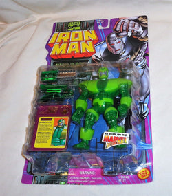 "MARVEL ""TITANIUM MAN w/ RETRACTABLE BLADE ACTION"" IRONMAN SERIES SEALED MOC"
