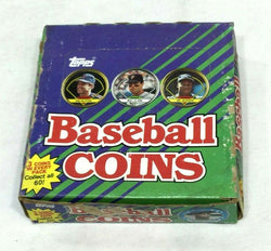 Vintage 1990 Topps Baseball Coin Wax Box 36 Packs Sealed Boxed FREESHIP