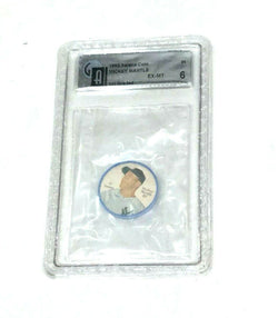 1962 Salada Coin #41 New York Yankees Mickey Mantle Graded GAI 6 Tea Junket